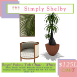 Simply Shelby Royal Palms Combo White